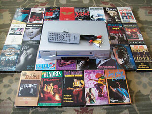 Quality VCR, with Rock and Roll VHS Movie Collection