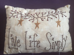 Coffee stained look small throw pillow