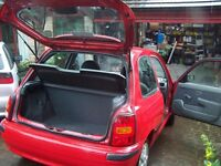 Micra Celebration 1.0 in red, NEW TEST, lowest insurance, runs well only £395