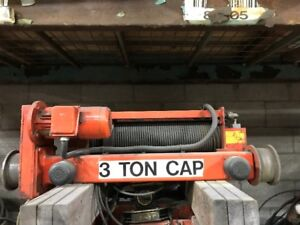 2 - 3 TON TOP RIDING HOISTS - Bridge Crane Hoist