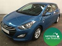 £173 PER MONTH BLUE 2012 HYUNDAI I30 1.6 CRDI ACTIVE 5 DOOR AUTO DIESEL