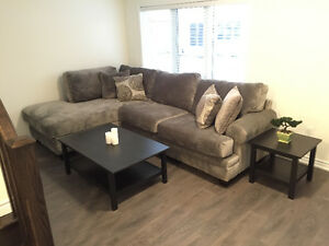 Brand New Sectional Light Grey Couch from Leons with WARRANTY