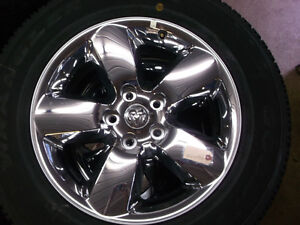 "2015 RAM 1500  20"" chrome wheels tires new"
