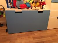 Ikea blue toy boxes x 2
