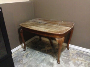 Antique rustic dinning room table