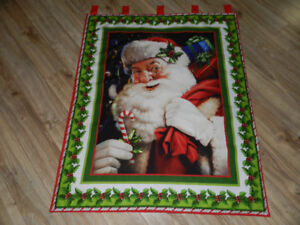 """for sale """"Santa with a Candy Cane wall hanging"""""""