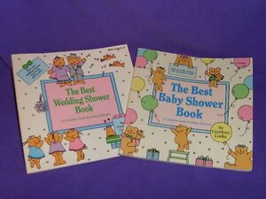 The Best Wedding Shower book & The Best Baby Shower book