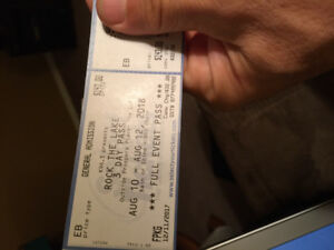 Rock The Lake Tickets (pair)