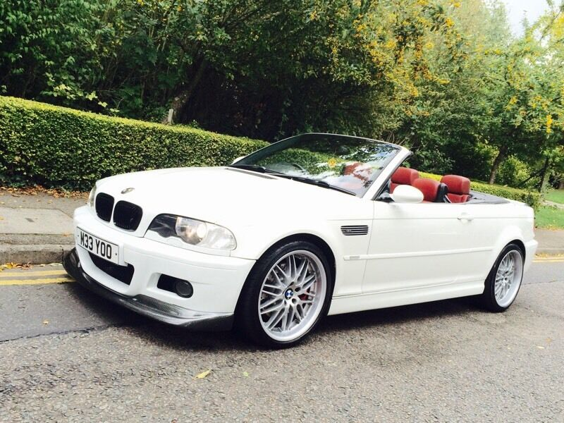 Bmw E46 M3 3 2 Convertible Hard Top Red Leather White In