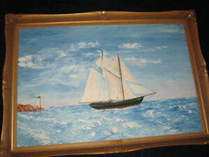 Framed Painting - Bluenose ll