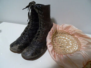 VICTORIAN child's lace-up shoes boots STEAMPUNK KIDS! Tiny Tim