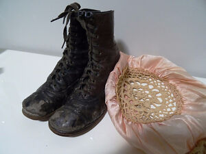 VICTORIAN child's lace-up shoes boots STEAMPUNK KIDS! Tiny Tim Cambridge Kitchener Area image 1