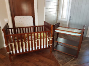 baby crib and change table - reduced price!!