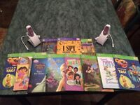 Leap Frog Tag Readers x 2 plus 9 books