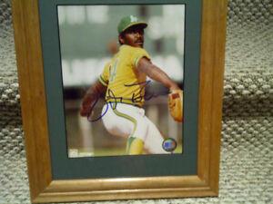 Vida Blue Oakland Athletics Autographed 8; X 10