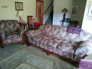 Vintage Couch and Chair for Sale