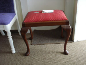 Mahogany Footstool/ Piano Stool