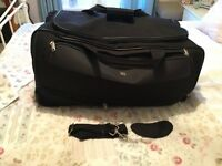 Large black Fiore wheeled holdall case bag