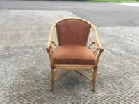 Wicker reception chair