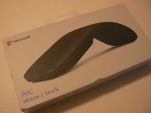 Microsoft - Microsoft Arc Mouse - Black ELG-00001 NEW open box