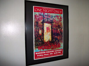 BLACK SABBATH - Mob Rules Concert Poster Matted and Framed