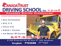 School Bus Driver Improvement Course - SBDIC. B-E class licence.