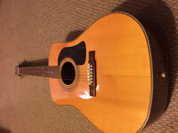 Washburn acoustic guitar D-13S in good condition