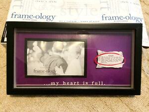 BNIB picture frame with quotation