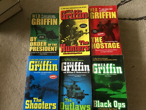 W.E.B. GRIFFIN - 6 WELL LOVED PRESIDENTIAL AGENT SERIES NOVELS
