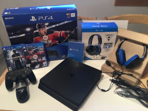 PS4 Slim Bundle 1Tb + 'as new' Turtle Beach Recon 60P Headset