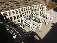 PATIO CHAIRS (4 white)