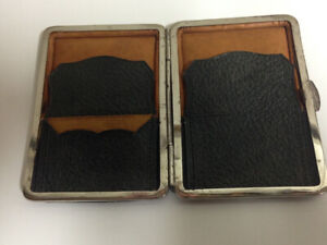Antique Calling Card/Stamp Leather Case