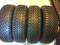 4 pneus d hiver 185-70-14 made in canada comme neuf