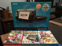 Nintendo Wii U 32GB Console with Games Mario Kart 8