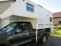 ATTENTION HUNTERS: 2001 SLIDE-IN TRUCK CAMPER WITH CHEST FREEZER