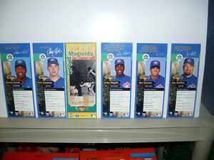 Toronto Blue Jays Old Logo Collectible Players Bookmarks NEW