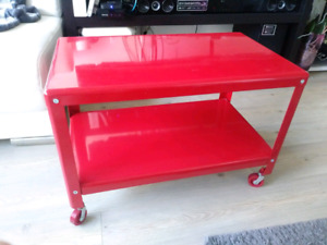 Indoor Red serving Trolley