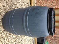 Grey 220 / 200 Litre Plastic HDPE Barrels, excellent Water Butt Waterbutt Brewing Home Brew