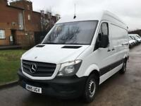 2015 15 MERCEDES-BENZ SPRINTER 2.1 313CDI MWB HIGH ROOF 129BHP NEW SHAPE. 1 OWNE