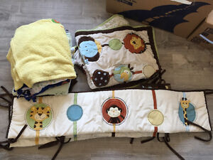 Crib Liner, Baby blankets, kids containers ,child safety kit