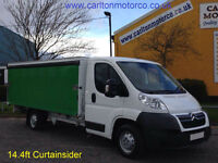 2011 / 61 Citroen Relay 35 L3 Curtain-Sides 14.4ft Body Twin Sld 2.2Hdi 120ps