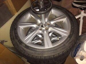 5 x 100 Subaru Stock Rims +  Winter Tires