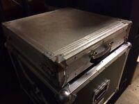 Amp amplifier Flight case 2u for disco Dj