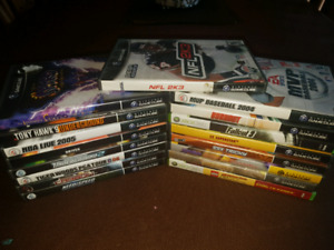 18 Gamecube and xbox 360 games
