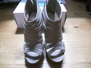 wedges beige taupe tan,size  38, 8.5 Kitchener / Waterloo Kitchener Area image 2
