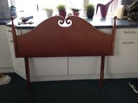 4ft headboard solid wood (60's)