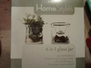 6 in 1 Glass Jar