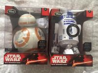 BB-8 and R2-D2 interactive talking figures from Disney Store