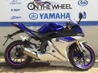 2016 YAMAHA YZF-R125 BLUE, BRAND NEW, AKRAPOVIC EXHAUST! LOTS OF ACCESSORIES!