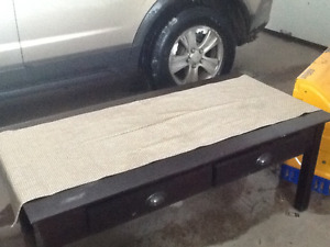 Coffee table with storage and custom topper